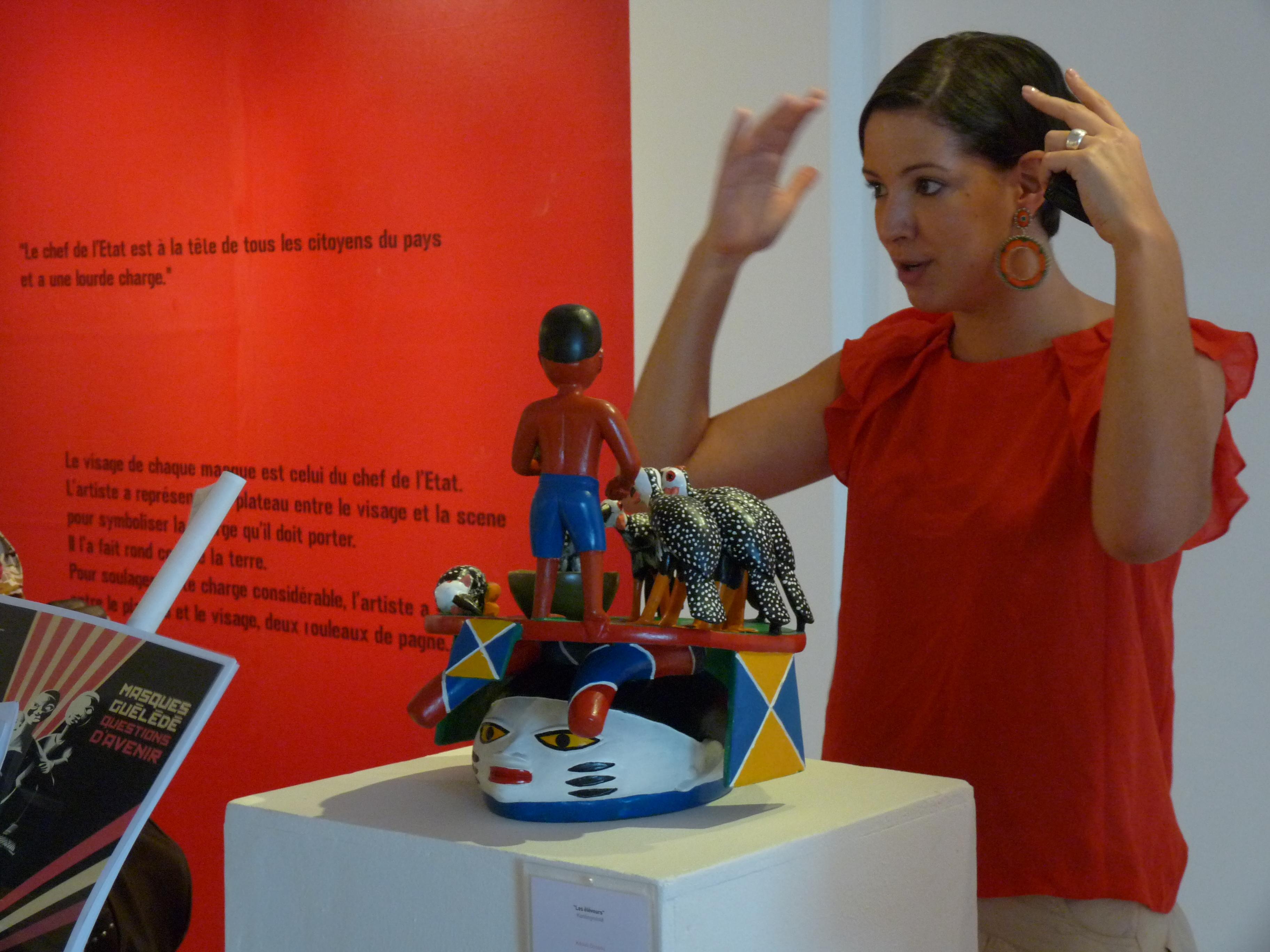 Exposition Le Sondage Fondation Zinsou à Cadjehoun Copyright: La Fondation Zinsou