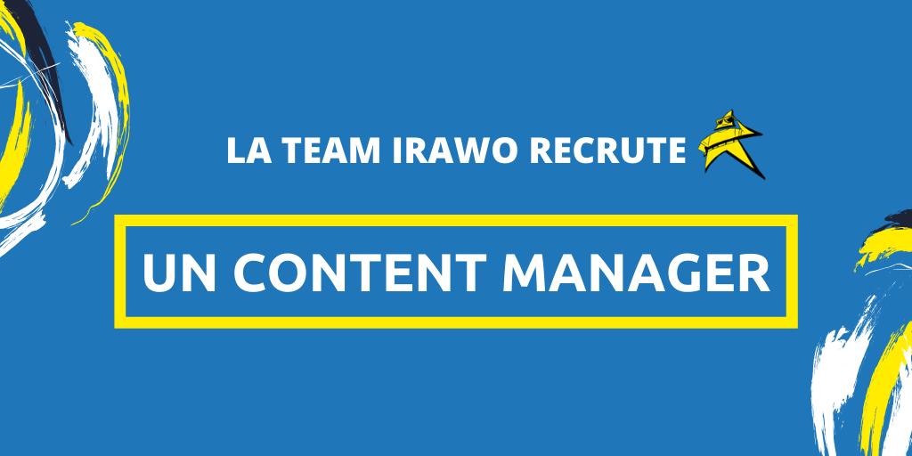 Irawo recrute son prochain Content Manager
